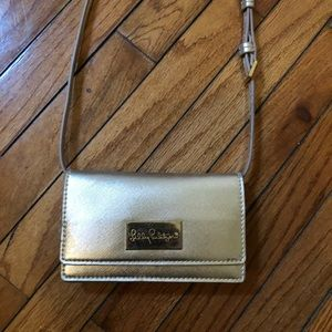 Lilly Pulitzer Metallic Bag - Perfect Condition